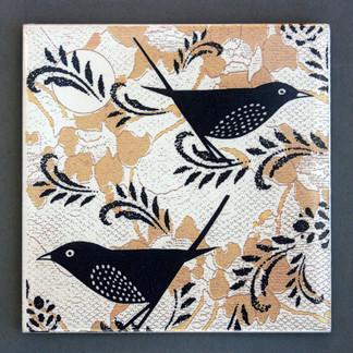 birdie coaster gold