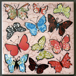 Pink Butterfly Coaster