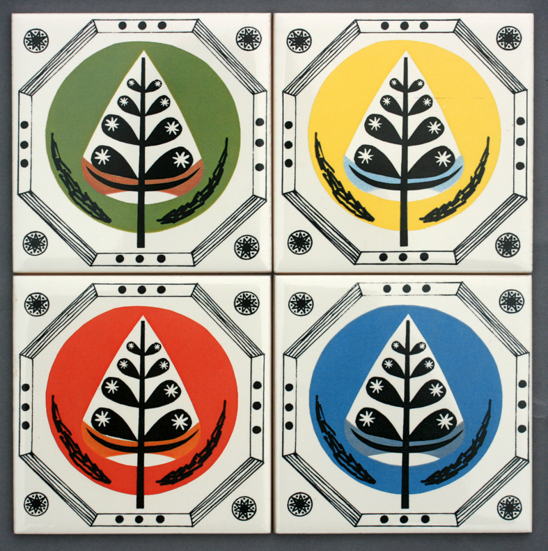 4 Retro Tree Coasters