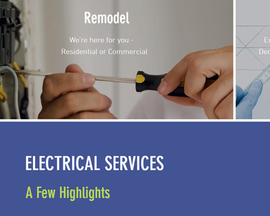 Electrical Services small business website