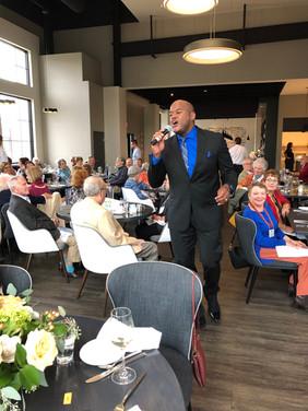Keith Spencer sings among DVMC members