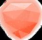 Round red gemstone