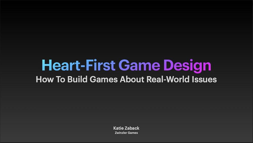 Heart-First Game Design Title Slide