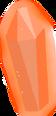 Horizontal orange gemstone