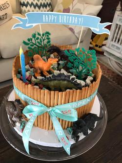 Customised Dinosaur Birthday Cake