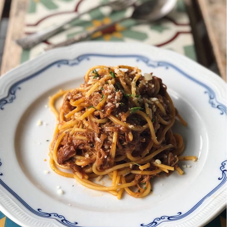 Carpenter and Cook's Pulled Pork Pasta