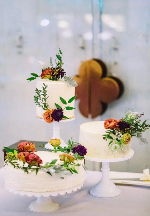 Trio Wedding Cake Design