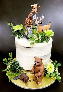 Jungle Animal Cake Design