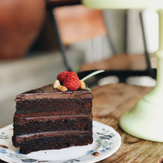 Carpenter and Cook's Sliced Chocolate Fudge Cake