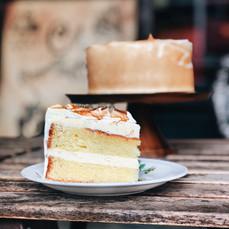 Carpenter and Cook's Sliced Lemon Meringue Cake