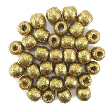 Golden Glitter Child Wooden Beads