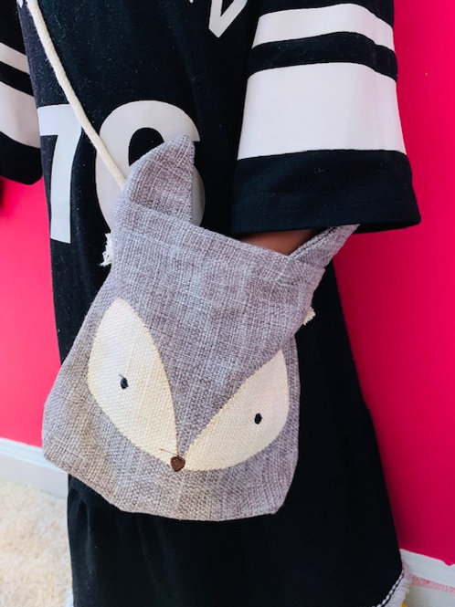 Canvas Fox Toddler Purse