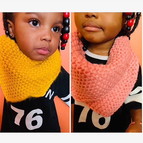 Crochet Neck Scarf w/ Wooden Buttons