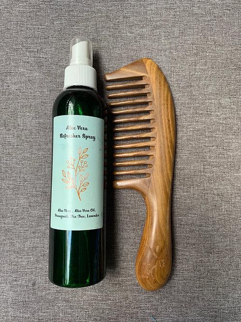 Aloe Refresher Spray & Sandalwood Comb Bundle