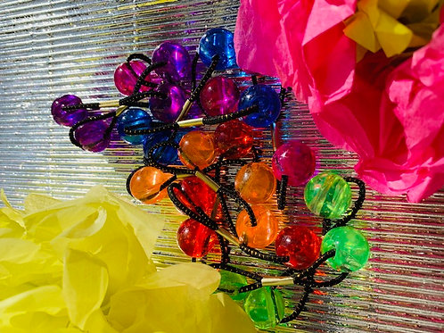 Clear Rainbow Ponytails