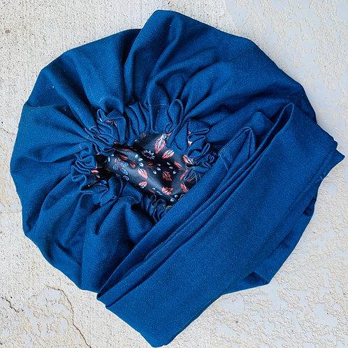 Cyber Monday- Denim Bonnet to Wrap