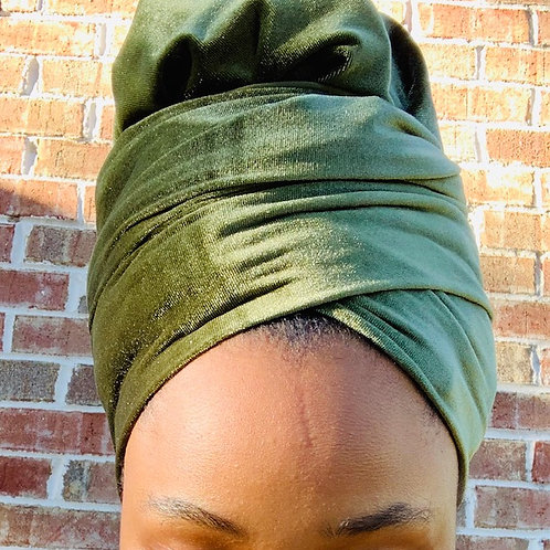 VELVET OLIVE BONNET TO WRAP