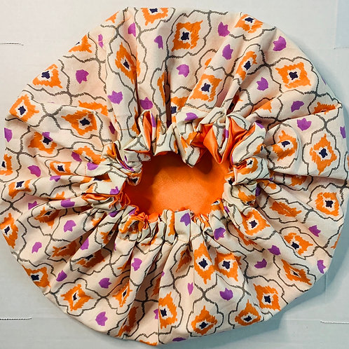 Cyber Monday- Tribal Orange Bonnet