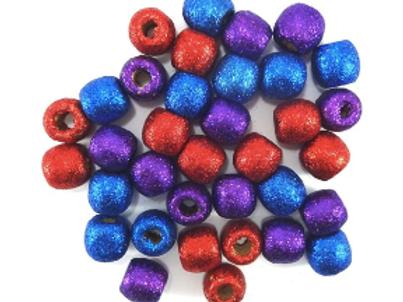 RBP Glitter Wooden Beads
