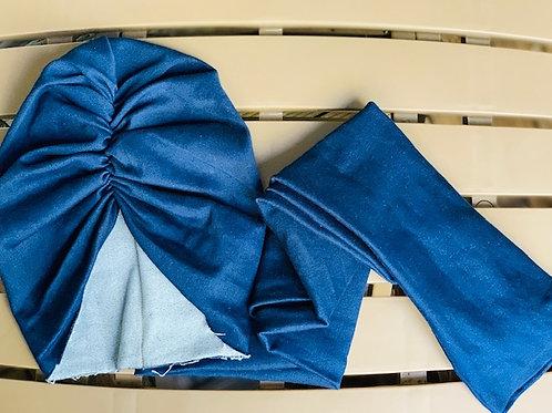 Denim Turban Wrap