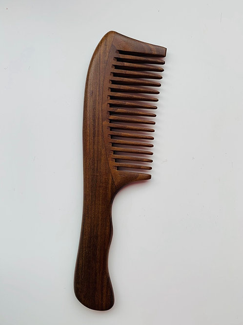 Double Wide Tooth Sandalwood Comb