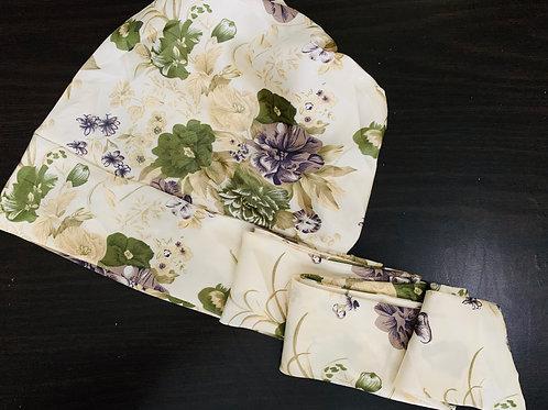 Floral Satin Bonnet