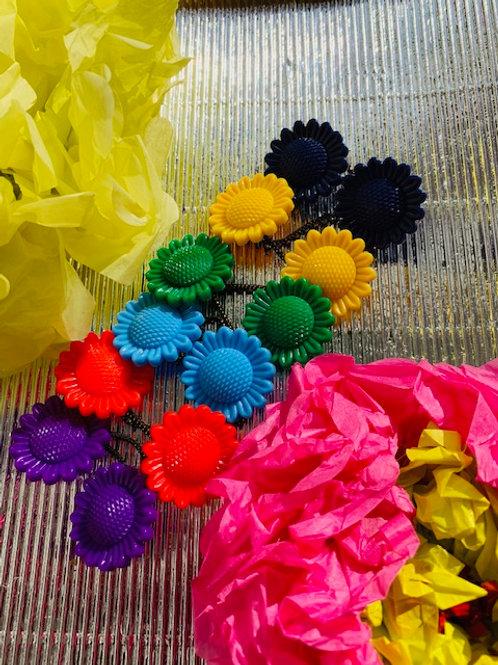 Sunflower Ponytails