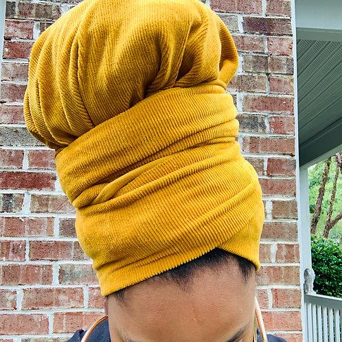 """""""Mustard"""" Corduroy Bonnet to Wrap"""
