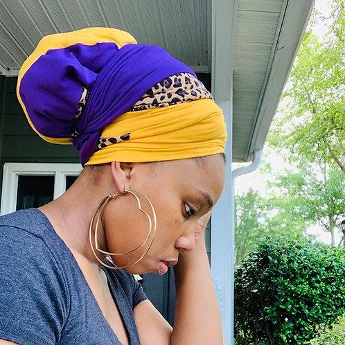Royalty Cheetah Bonnet to Wrap