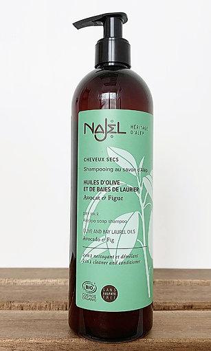 法國品牌 Najel 有機2合1阿勒頗洗髮水+護髮素 (乾性髮質) 500ml