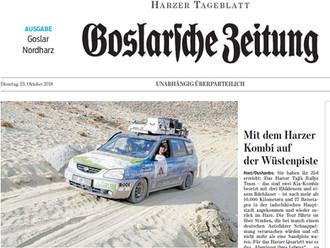 """Sehr schöner Bericht aus der """"Goslarschen Zeitung"""""""