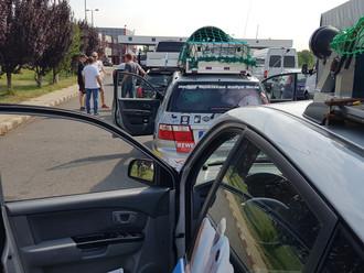 Stressige Anreise zur Checkpoint Party