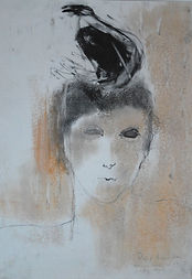 Woman_with_Singing_Bird_16x11_pastel_on_