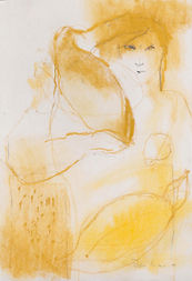 Woman_with_Two_Doves_18x12_pastel_on_pap