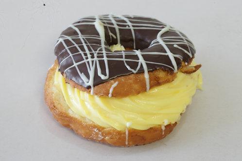 Cronut with Fresh Custard Cream & Chocolate