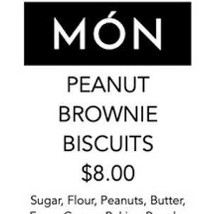 Peanut Brownie Biscuits 12 Pack
