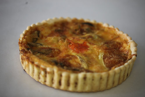 Large Salmon & Vege Quiche