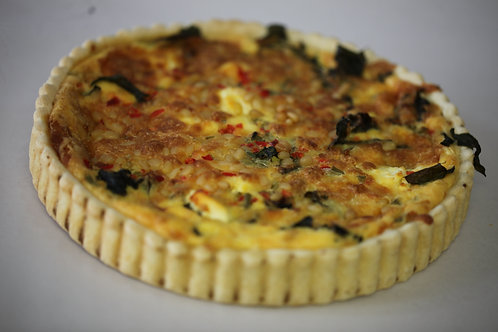 Large Spinach, Feta & Pinenut Quiche