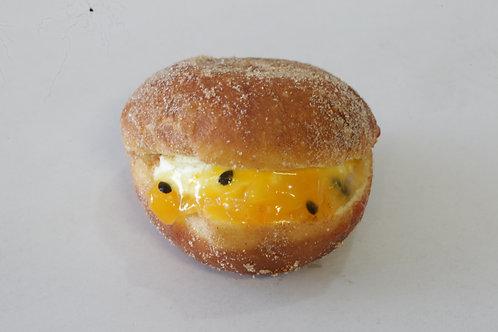 Peach & Passionfruit Fresh Cream Doughnut