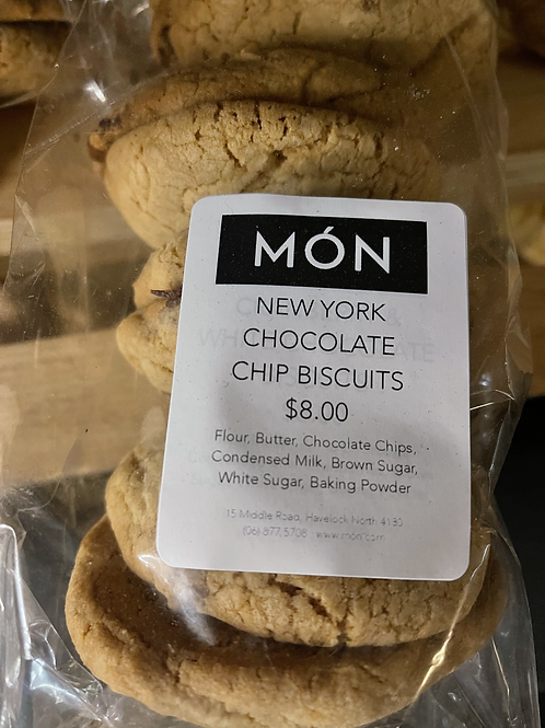New York Chocolate Chip Biscuits 8 Pack