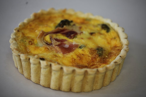 Large Bacon & Tomato Quiche