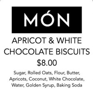 Apricot & White Chocolate Oat Biscuits 12 Pack