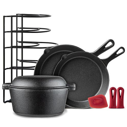 Chef's Essential  5 Piece Cast Iron Set
