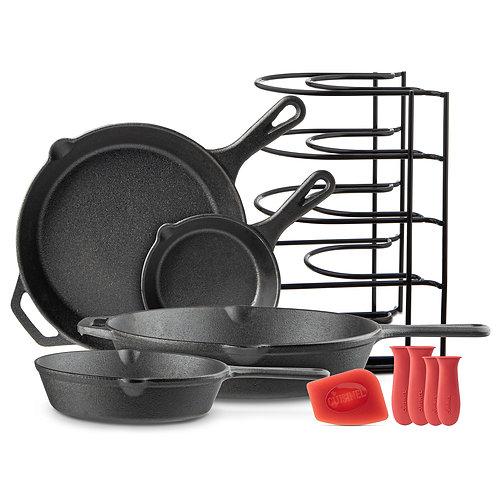 Chef's Essential  5 Piece Basic Cast Iron Set