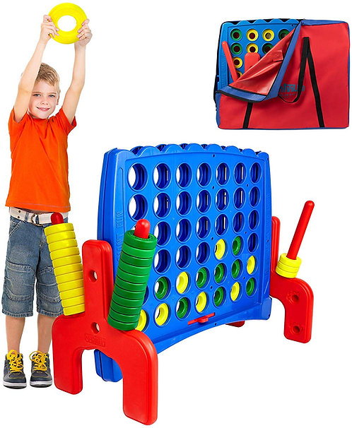 Giant 4 in a Row Connect Game Jr. - Storage Carry Bag Included