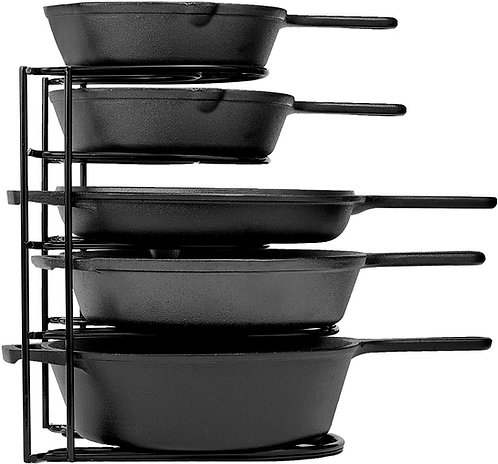 Pan Organizer for Cast Iron Skillets, Griddles and Pots - 12.2 Inch
