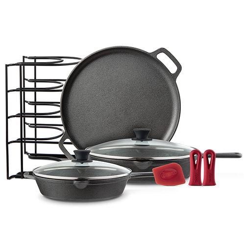Chef's Essential 6 Piece Cast Iron Set