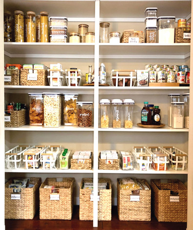 Pantry with Custom Labels