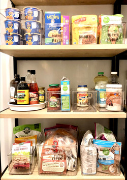 Butlers Pantry Shelving with Custom Labels