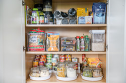 Cabinet Pantry with Custom Labels